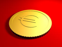 Generic Euro Coin Royalty Free Stock Photos