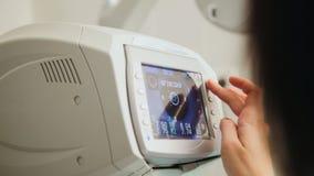 A generic eye scanner machine for optometrist Stock Image