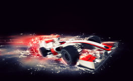 Generic F1 car with special speed effect royalty free illustration