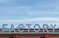 Generic factory signage Royalty Free Stock Photos