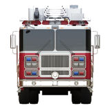 Generic firetruck illustration front view on a white background Stock Photo