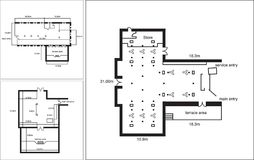 Generic Floor Plan for a commercial office space stock images