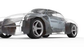 Generic and futuristic model of car stock video
