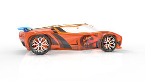 Generic and futuristic model of car stock video footage