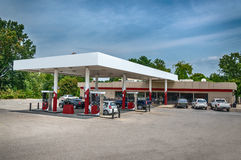 Generic Gasoline Station Convenience Store. A generic gasoline station with a convenience store Royalty Free Stock Image