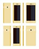 Generic gold smartphone Stock Photos