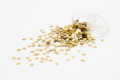 Generic gold star glitter. Stock Image