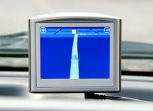 Generic GPS navigation system device Royalty Free Stock Photos
