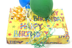 Generic happy birthday present Royalty Free Stock Photography
