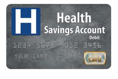 This is a generic health savings account HSA debit card. It is isolated on a white background royalty free stock photo