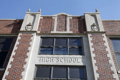 Generic High School Facade royalty free stock photos