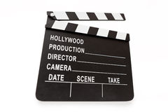Generic Hollywood production clapper board. Stock Image