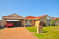 Generic house with car Royalty Free Stock Photos