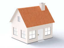 Generic house model with sloping roof Royalty Free Stock Photos