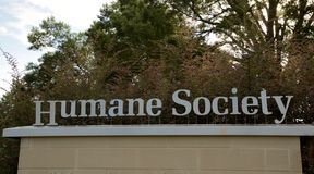 Generic Humane Society Sign Stock Photo