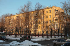 Generic Khrushev time apartment house in Moscow Royalty Free Stock Photography