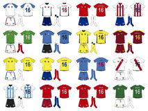 Generic Kits National Teams of America Stock Images