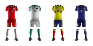 Generic Kits of Soccer National Teams H. Vector of Generic Kits of Soccer National Teams H vector illustration