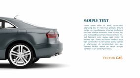 Generic luxury coupe car. Vector Stock Photo