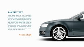Generic luxury coupe car vector Stock Photo
