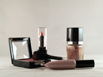 Generic makeup. Close-up of generic makeup and cosmetics Stock Photography