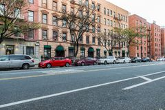 Generic manhattan uptown Upper West Side street with buildings in New York City Stock Photography