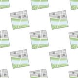 Generic Map Flat Icon Seamless Pattern Stock Photography