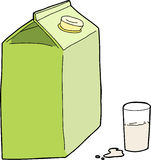 Generic Milk Carton Stock Photos