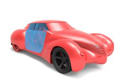 Generic   model of car Royalty Free Stock Photo