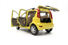 Generic modern yellow family car model Stock Photography