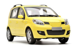 Generic modern yellow family car model Stock Photo