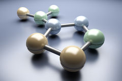 Generic Molecule Royalty Free Stock Photos