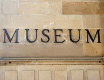 Generic museum sign. Museum sign, picture taken in Adelaide Australia Royalty Free Stock Photo