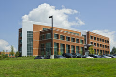 Generic Office Building, School, Hospital, Government Building. An outside shot of a generic office, school, hospital, government building with blue sky and Royalty Free Stock Photo