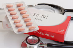 Generic Pack of Statins Royalty Free Stock Photo