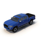 Generic pickup car isolated on white 3D Illustration Stock Photography