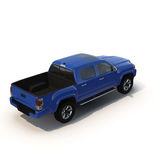 Generic pickup car  on white 3D Illustration Royalty Free Stock Images