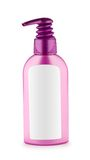 Generic pink bottle dispenser Royalty Free Stock Image