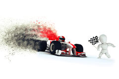 Generic racing car with speed effect Royalty Free Stock Photos