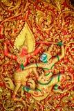 Generic Ramayana Thai Art Sculpture Royalty Free Stock Photo