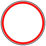 Generic red prohibition, restriction sign. Road sign with empty. Space. - Royalty free vector illustration Royalty Free Stock Photography
