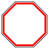 Generic red prohibition, restriction sign. Road sign with empty. Space. - Royalty free vector illustration Stock Images