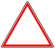 Generic red prohibition, restriction sign. Road sign with empty. Space. - Royalty free vector illustration Royalty Free Stock Photo