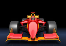 Generic red race car. On the black background stock illustration