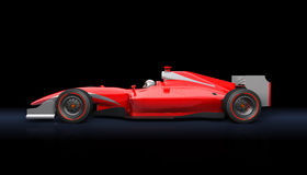 Generic red race car. On the black background vector illustration