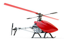 Generic red remote controlled helicopter Stock Photos