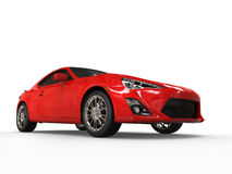 Generic red sports car - low angle shot Royalty Free Stock Images