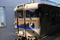 Generic regional commuter train in Chugoku. Region, Japan royalty free stock photos
