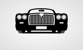 Generic retro car. Front view Stock Images