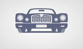 Generic retro car. Front view Royalty Free Stock Image